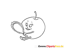 Coloriage fruits à télécharger pomme dessin