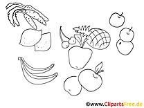 Fruits image gratuite à colorier