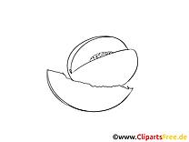 Mango image gratuite – Fruits à colorier