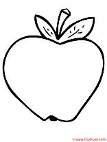 Pomme coloriage