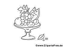 Vase clip art gratuit – Fruits à imprimer