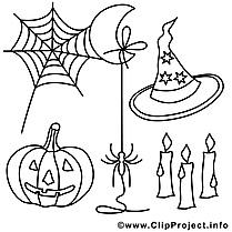 Chapeau image gratuite – Halloween à colorier