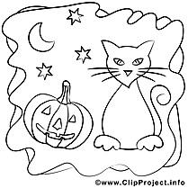 Chat clip art gratuit – Halloween à imprimer