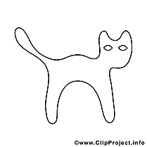 Chat noir cliparts gratuis – Halloween à imprimer