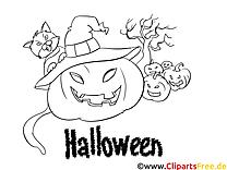 Citrouille illustration – Halloween à imprimer