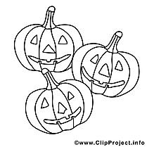 Citrouilles images gratuites – Halloween à colorier