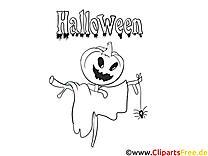 Coloriage halloween illustration à télécharger