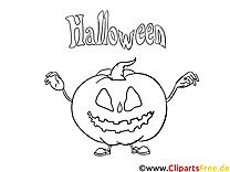 Courge dessin gratuit – Halloween à colorier