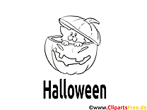 Courge image – Coloriage halloween illustration
