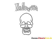 Crâne images gratuites – Halloween à colorier