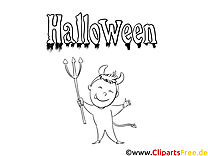 Diable clipart – Halloween dessins à colorier