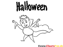 Dracula clipart – Halloween dessins à colorier