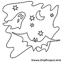 Étoiles dessins gratuits – Halloween à colorier