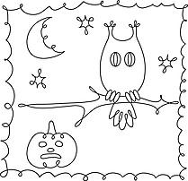 Hibou cliparts gratuis – Halloween à imprimer