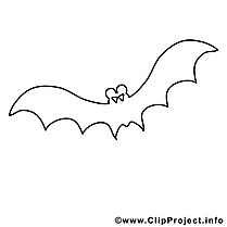 Illustration chauve-souris – Coloriage halloween illustration