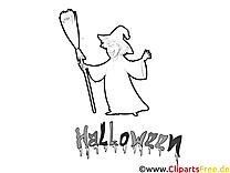 Image à télécharger sorcière – Halloween à colorier