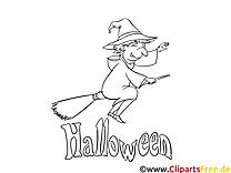 Images sorcière – Halloween gratuit à imprimer
