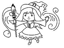 Magicien dessin – Coloriage halloween à télécharger