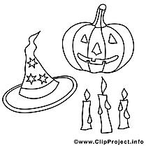 Objets dessin gratuit – Halloween à colorier