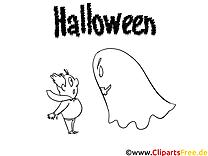 Phantôme dessin à télécharger – Halloween à colorier