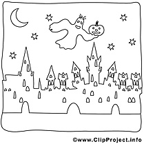 Phantôme illustration – Halloween à imprimer