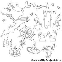 Sorcière cliparts gratuis – Halloween à imprimer