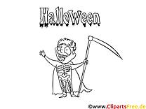 Squelette clip arts – Halloween à imprimer