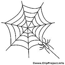 Toile d'araignée clip art gratuit – Halloween à imprimer