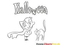 Vampire clip art gratuit – Halloween à imprimer