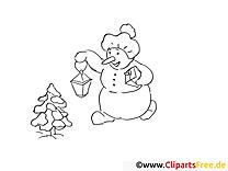 Lanterne sapin dessin – Coloriage hiver à télécharger