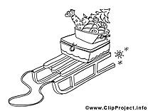 Luges clip arts – Hiver à imprimer