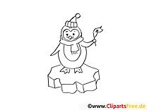 Pingouin image – Hiver images à colorier