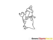 Pingouin image à télécharger – Hiver à colorier