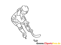 Hockey sur glace coloriages