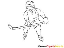 Bâton dessin à télécharger – Hockey à colorier