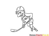 Bâton illustration – Hockey à imprimer