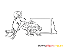But image – Coloriage hockey illustration