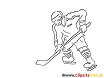 Coloriage hockey illustration à télécharger
