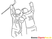 Gagnants clip art gratuit – Hockey à imprimer