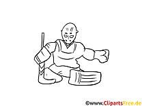 Gardien clipart – Hockey dessins à colorier