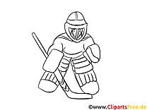 Gardien illustration – Coloriage hockey cliparts