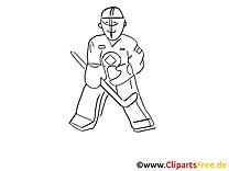 Gardien illustration – Hockey à colorier