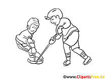 Hockeyeurs dessin – Hockey gratuits à imprimer