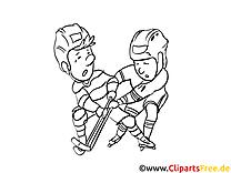 Hockeyeurs image à télécharger – Hockey à colorier