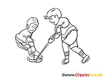 Hockeyeurs images gratuites – Hockey à colorier