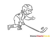 Joueur dessins gratuits – Hockey à colorier
