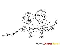 Joueurs dessin gratuit – Hockey à colorier