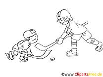 Joueurs images – Hockey gratuit à imprimer