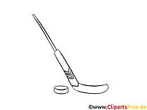 Palet bâton clip art gratuit – Hockey à colorier