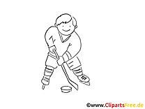 Palet image à télécharger – Hockey à colorier